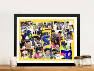 Angled Photo Collage Framed Wall Art