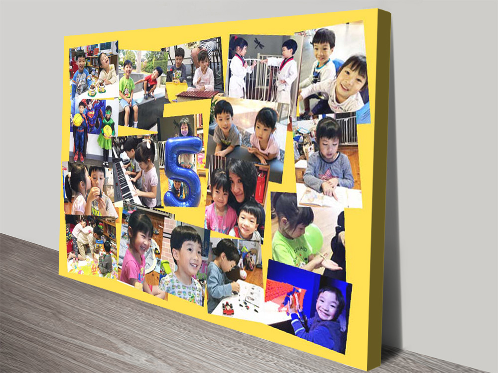 Angled Photo Collage canvas print