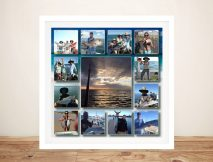 Central Square photo collage Framed Art