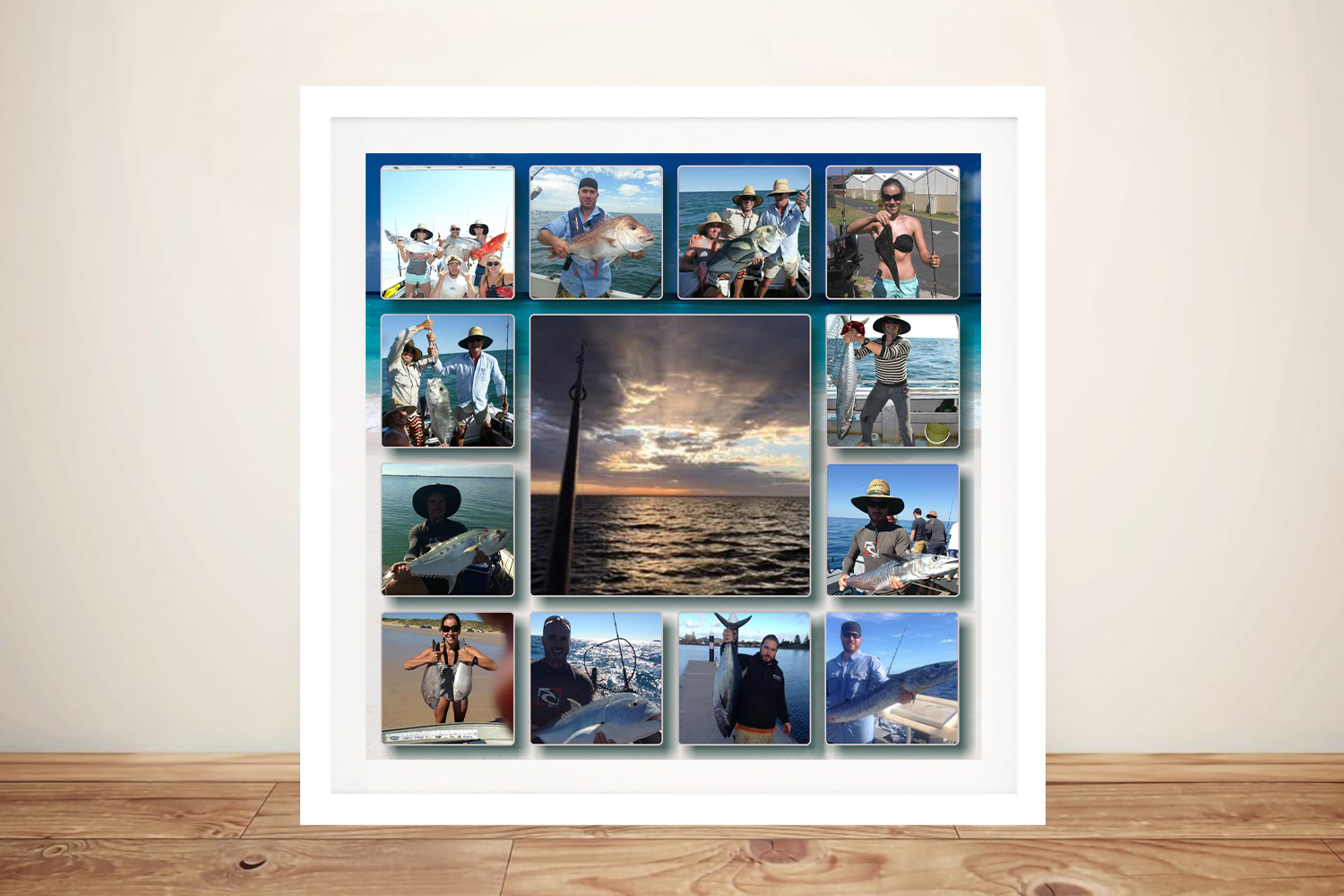 Central Square photo collage Framed Art | Central Square Plain Background