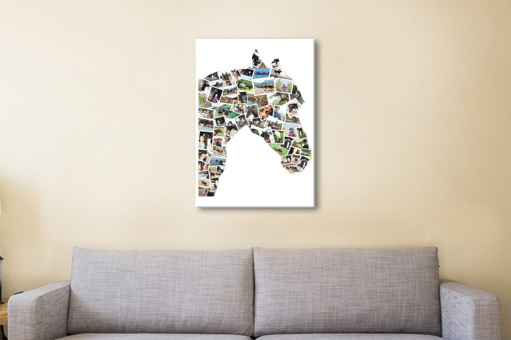 Horse Shape Collage canvas artwork