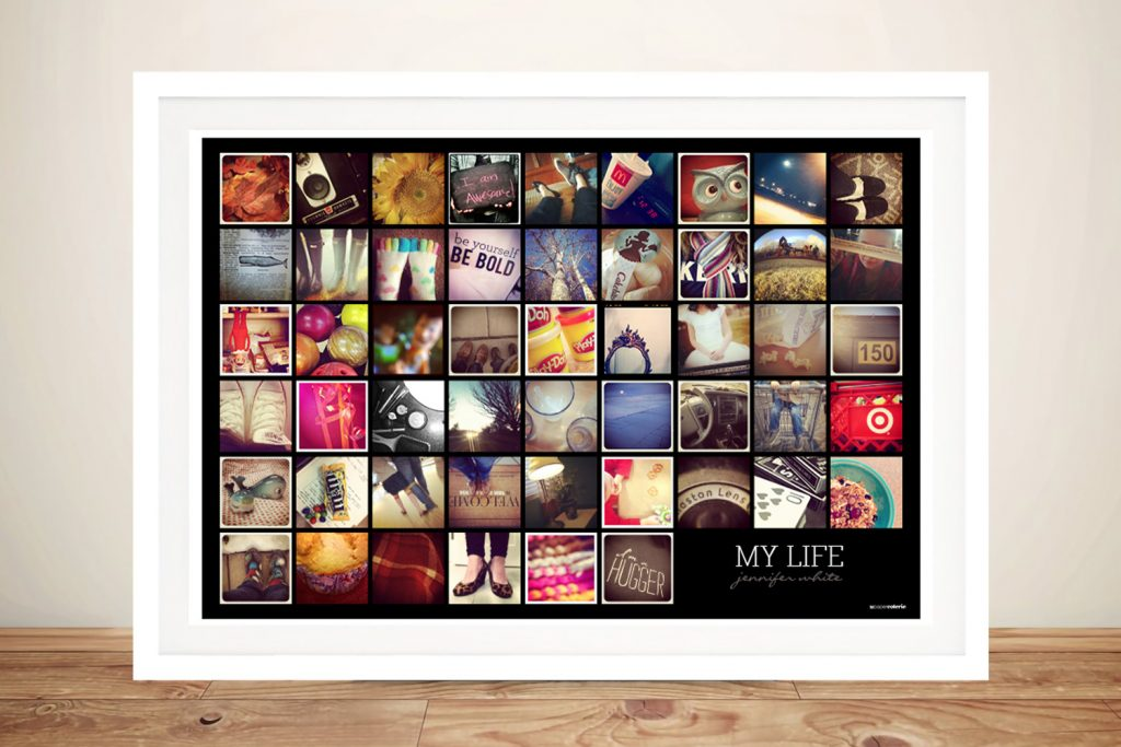 My life Photo collage Framed Art