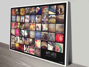 My life collage canvas print
