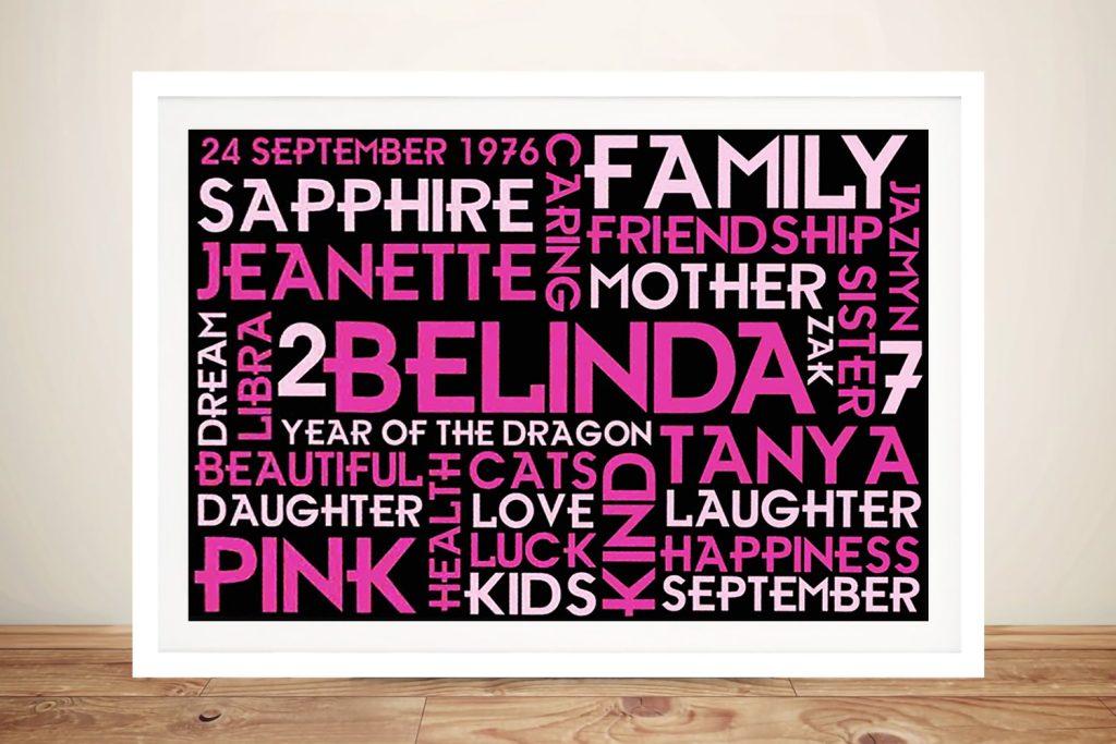 Gift for Girls Framed Wall Art