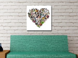 Custom Heart Shaped Photo Collage Art