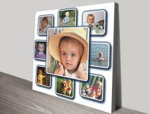 Photo Collage Wall Canvas Print