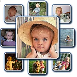 Create a Photo Collage Picture Online | Diamond Shape, Plain Background