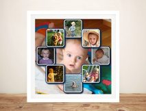 Personalised photo Framed Collage