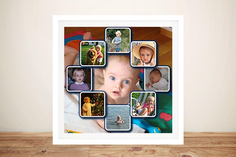 Personalised photo Framed Collage | Diamond Shape Photo Background