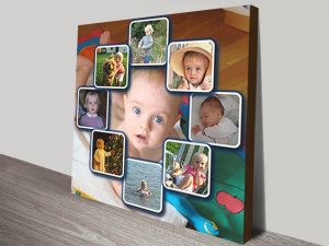Personalised photo Framed Collage Canvas