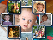 Diamond Shape Photo Background Personalised Picture Collage