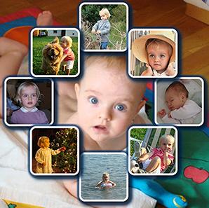 Diamond Shape Photo Background Personalised Picture Collage | Diamond Shape Photo Background