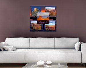 Custom Photo Collage Canvas Print Noosa