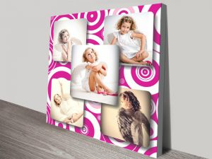 Pink Photo Collage canvas print