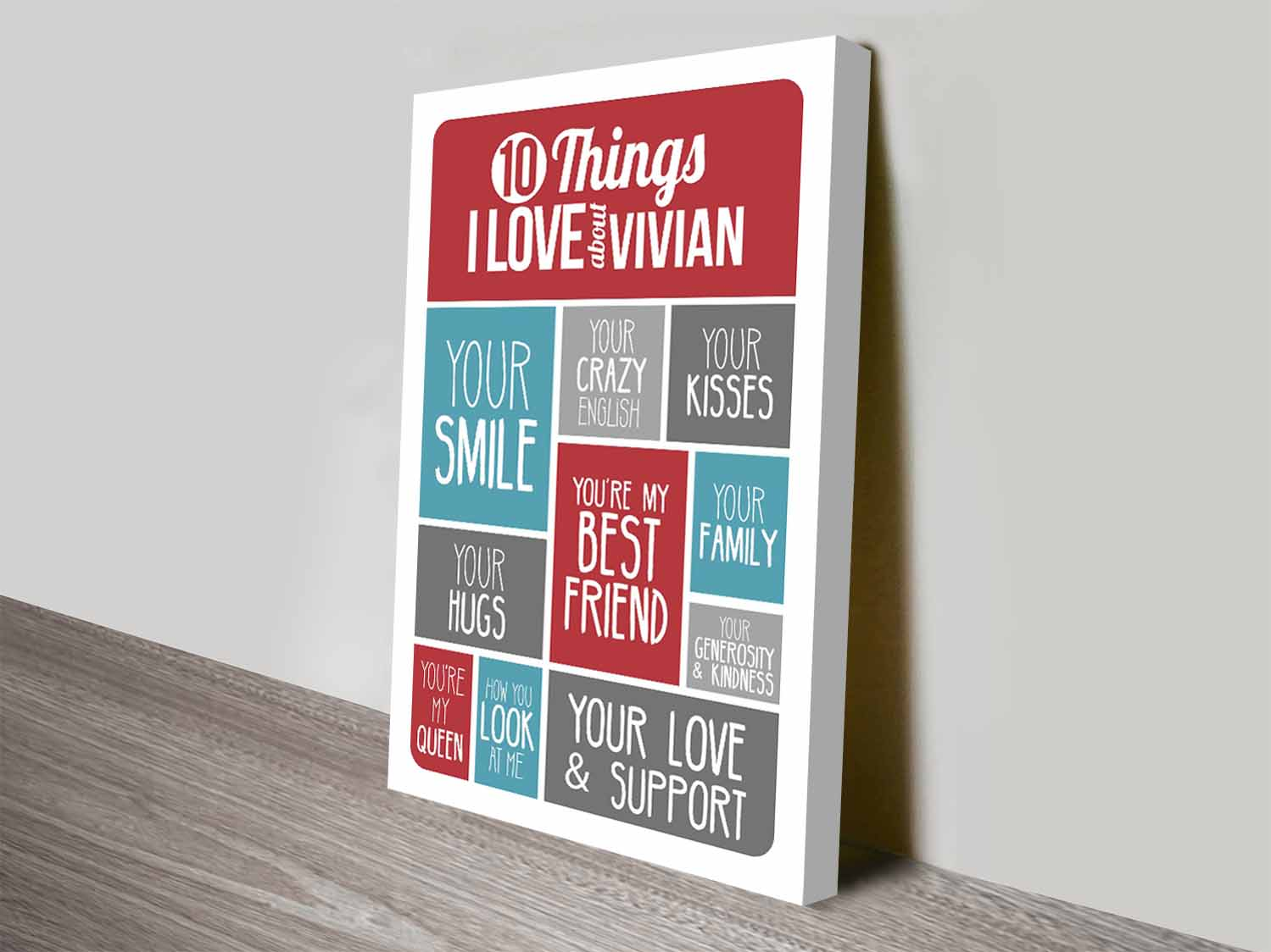 Personalised valentines day art | 10 Things I Love