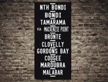 Bondi Beach tram destination scroll