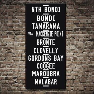 Bondi Beach tram destination scroll | Bondi Beach
