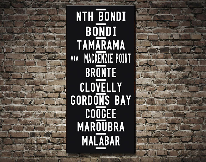 Bondi Beach tram destination scroll | Bondi Beach