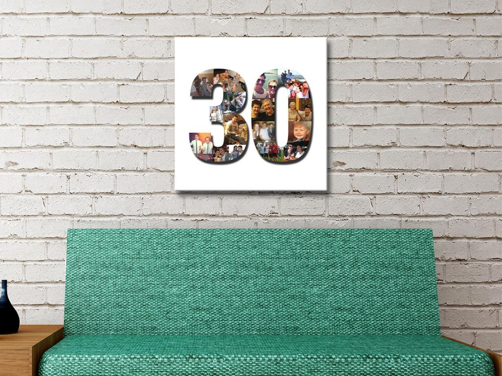Number Photo collage Canvas Print