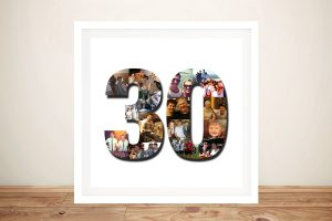 Number photo Birthday Collage Wall Art