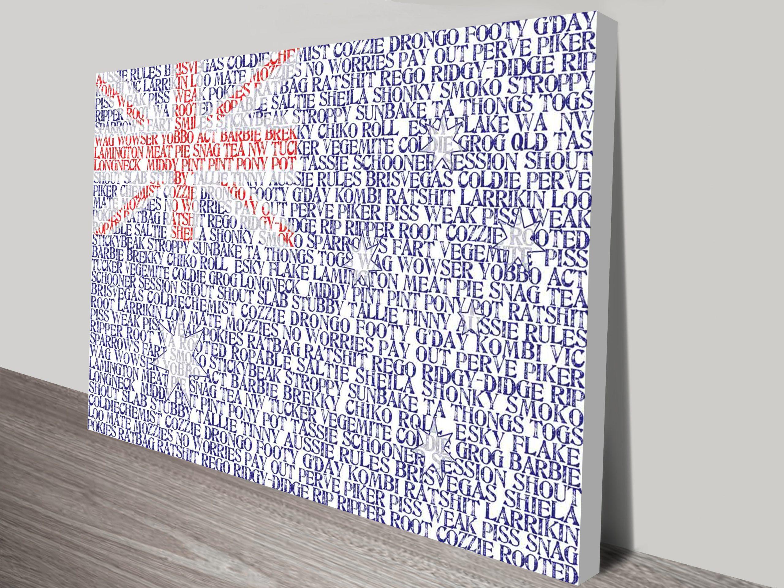 Personalised Flag Word Art | Personalised Flag Art
