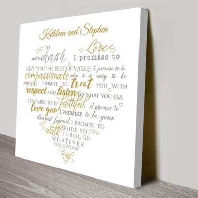 personalised heart shaped word art | Scripted Hearts