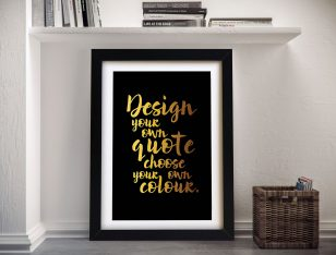 personalised quotes word art print