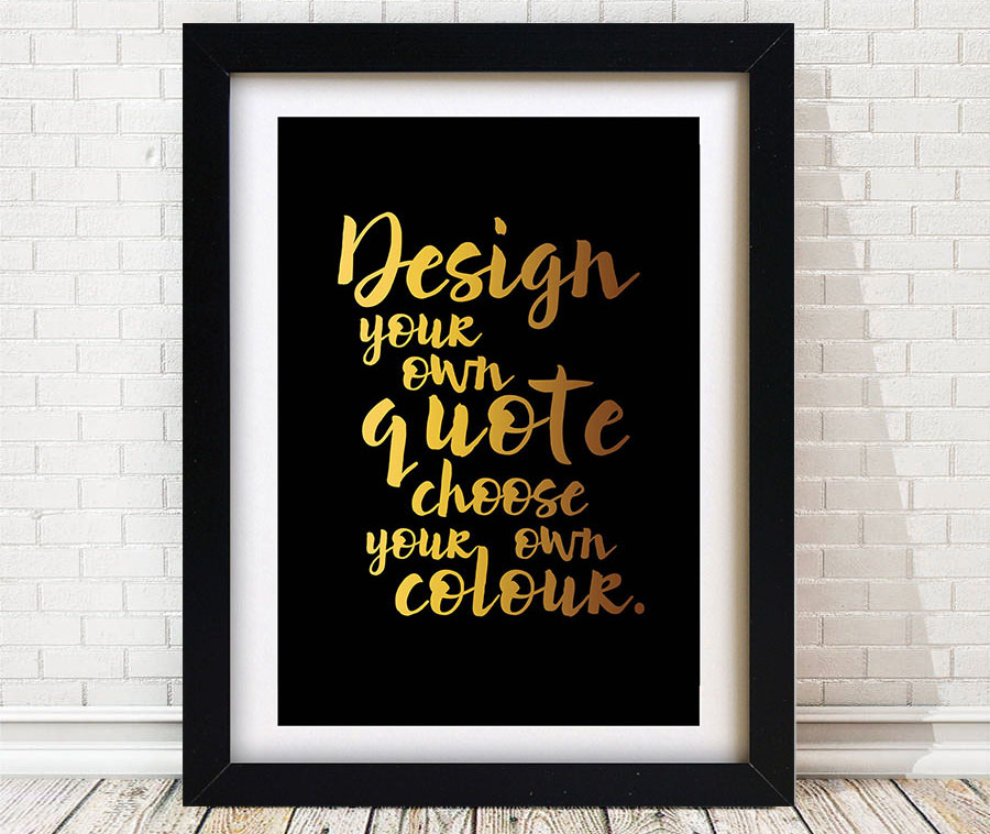 personalised quotes word art