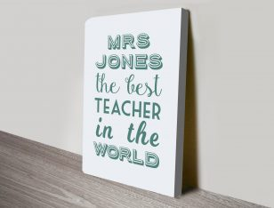 The Best Teacher in the World Word Art Gift