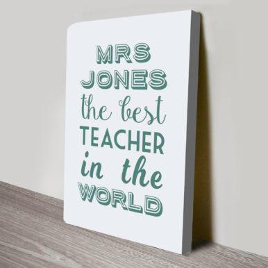 The Best Teacher in the World Word Art Gift | The Best Teacher in the World