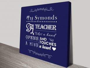 Bespoke Teacher Custom Wall Art