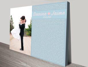 Personalised Word Art Wedding Vows