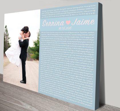 Personalised Word Art Wedding Vowels   Wedding Vowels Style 4