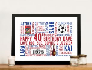 Custom birthday Framed Wall Art Gift