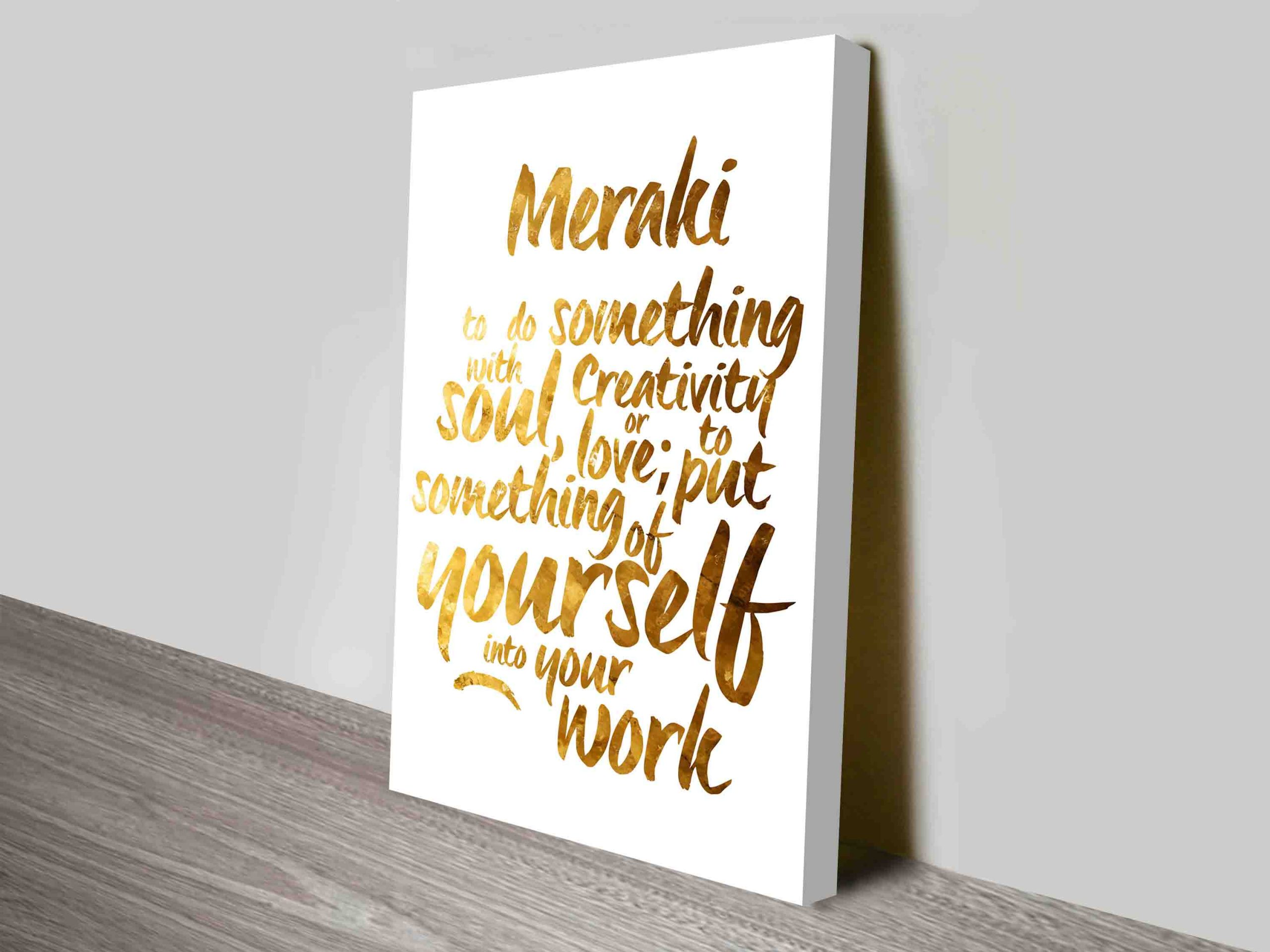Personalised Custom Typographic Word Art Melbourne | Say it in Gold