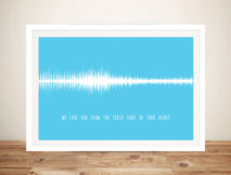 Soundwave Art for Babies Framed Wall Art