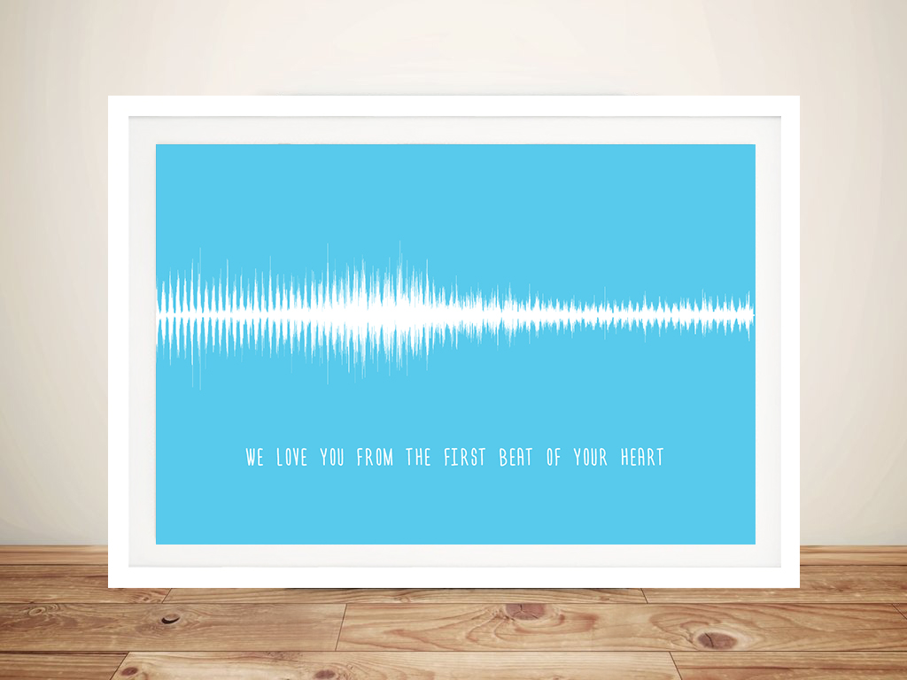 Soundwave Art for Babies Framed Wall Art | The First Beat of Your Heart