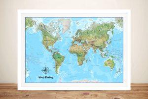 Custom Push Pin Australia Map Canvas Art Print