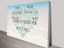 Photo Background Personalised Love Heart Word Art