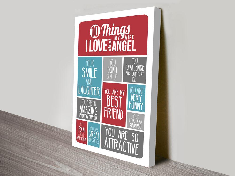 Personalised Word Art Gifts Australia