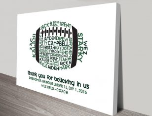 Sports Coach Personalised Canvas Art Prints