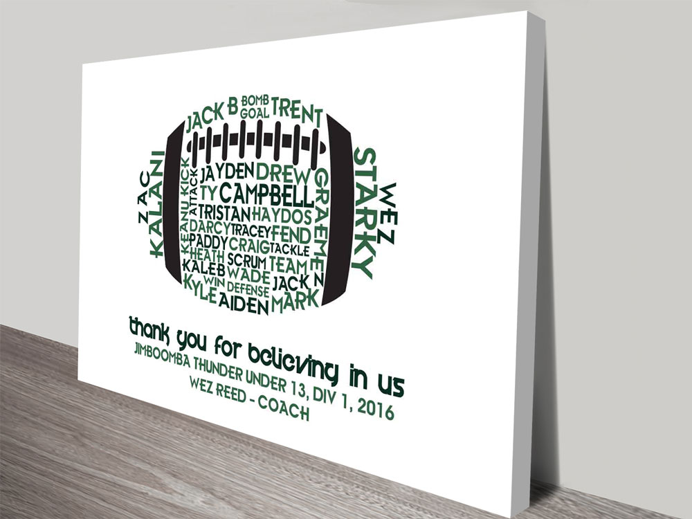 Sports Coach Personalised Canvas Art Prints | Sports Coach
