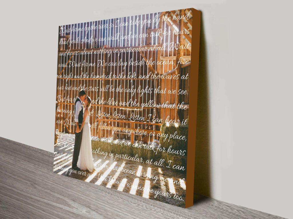 Photo & Words Personalised Canvas Bespoke Wall Art