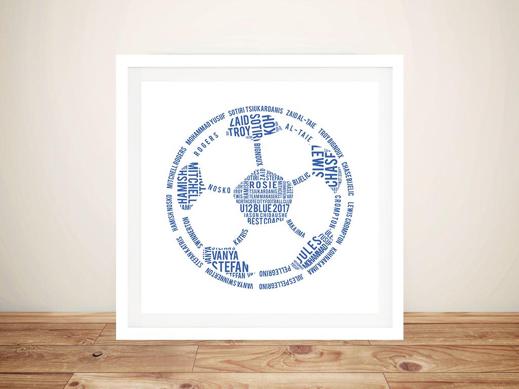 Soccer Ball Outline Sports Coach Customised Art Gift | Soccer Ball Art