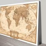Custom-Adventures-Push-Pin-World-Map-Custom-Canvas Wall Art