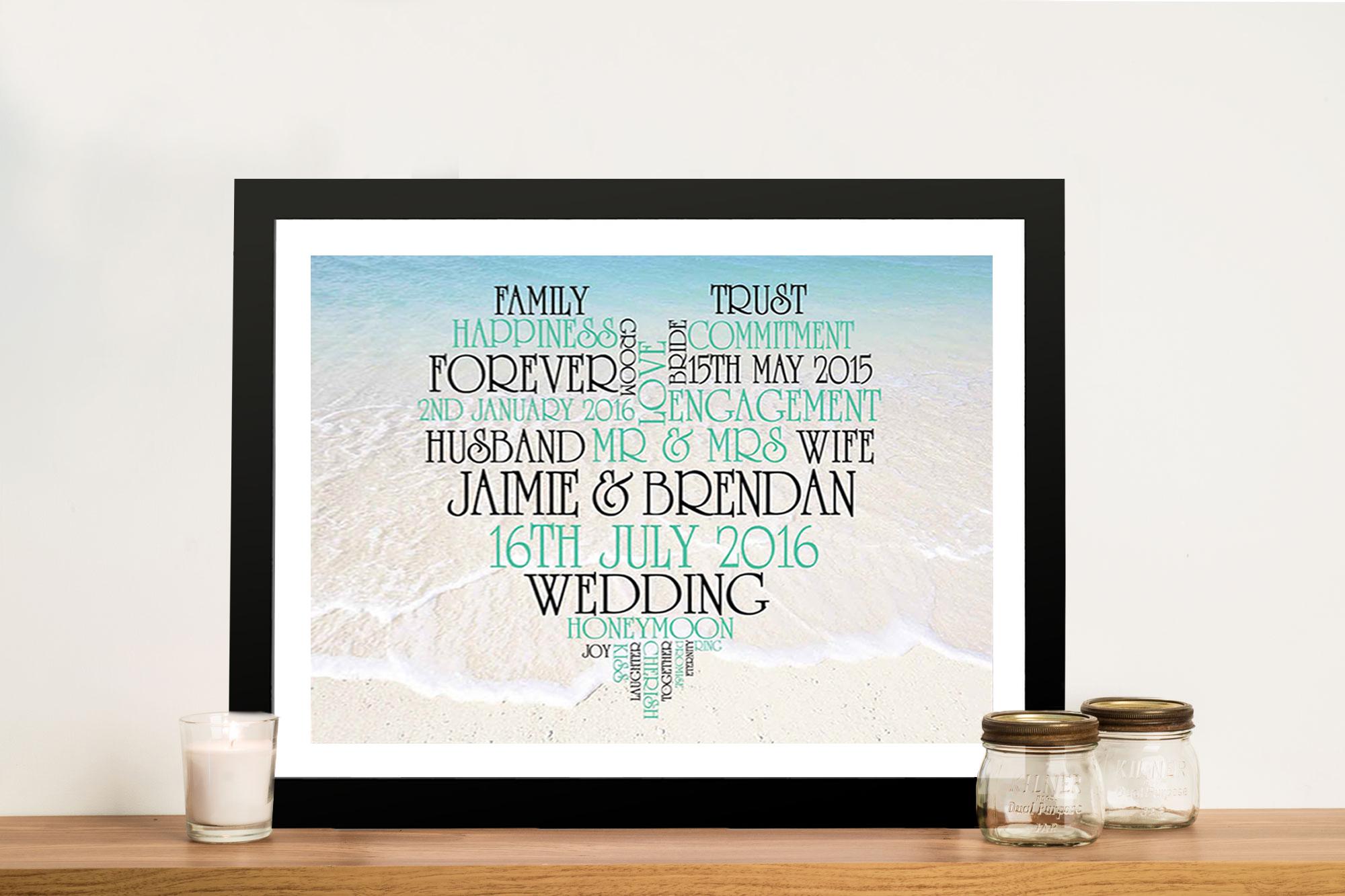 Personalised Heart Framed Artwork | Photo Background Love Heart