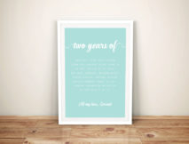 Valentines Day Personalised Framed Wall Art