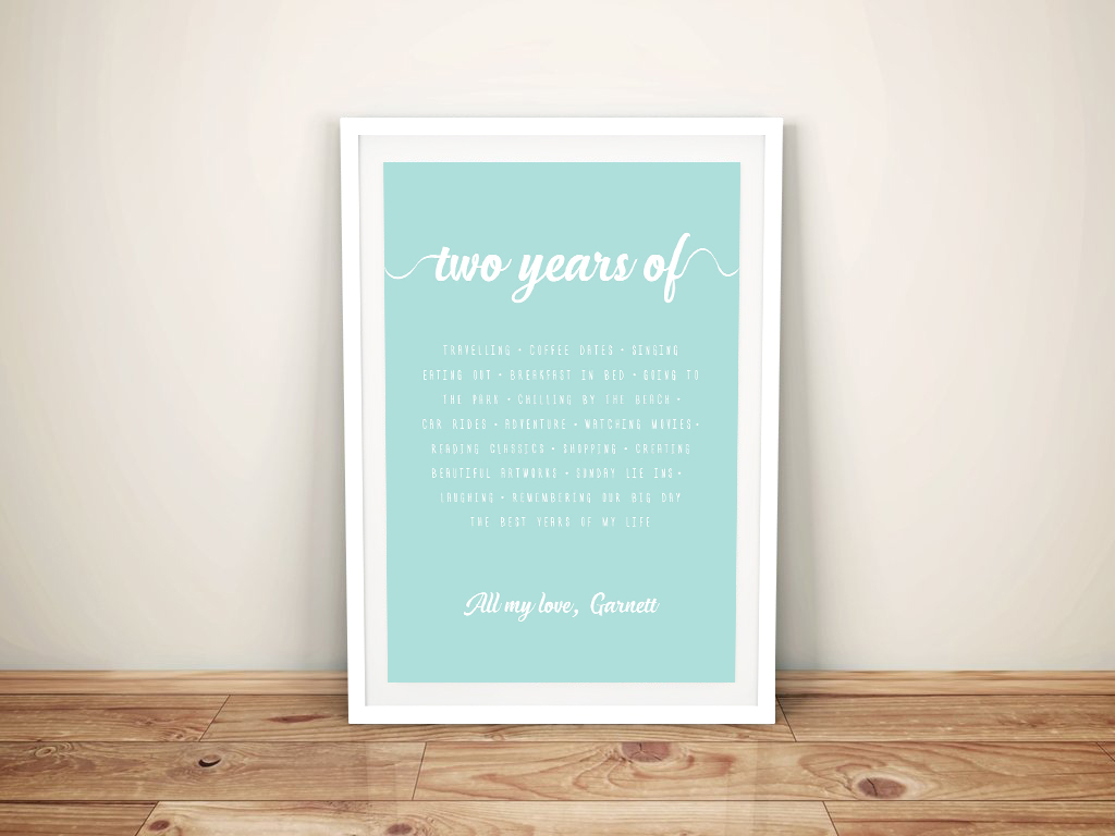 Valentines Day Personalised Framed Wall Art | Our Years