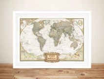 Wanderlust Adventure Push Pin World Map