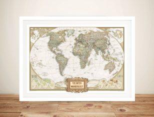 Wanderlust Adventure Push Pin World Map